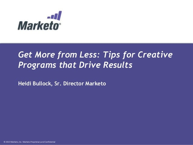 Get More From Less: Tips for Creative Programs That Drive Revenue
