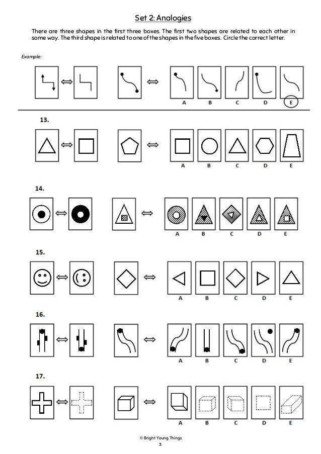 Bright Young Things Non Verbal Reasoning Sample Paper