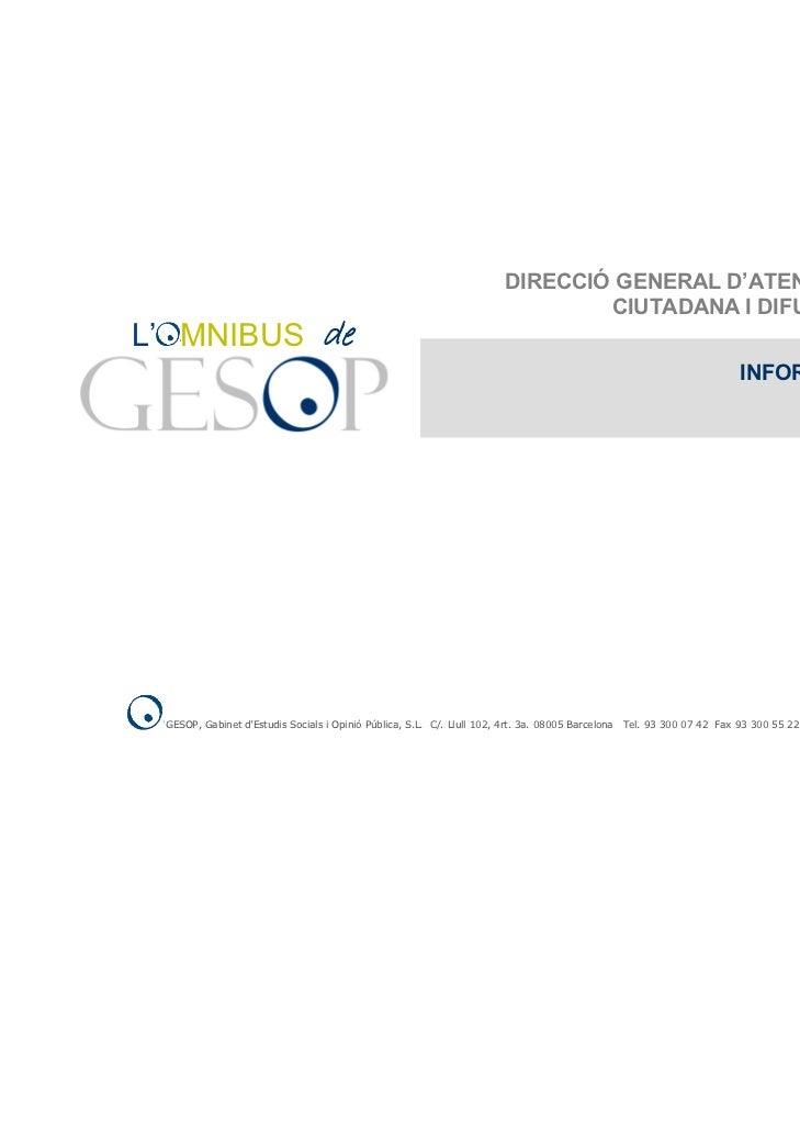 DIRECCIÓ GENERAL D'ATENCIÓ                                                                                 CIUTADANA I DIF...