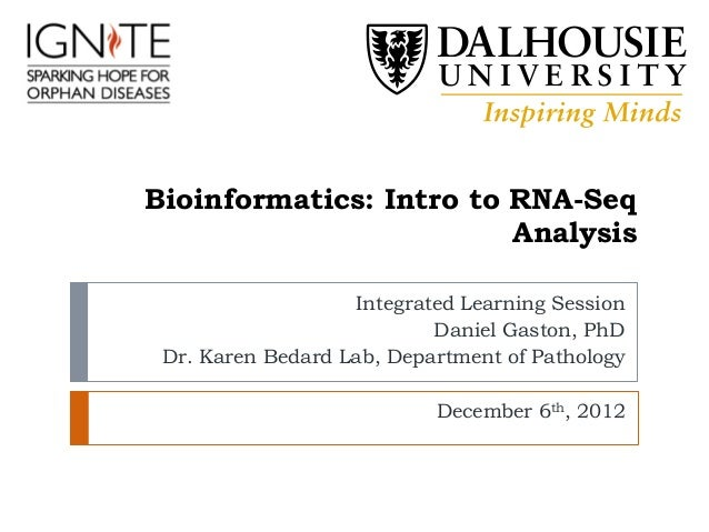 Bioinformatics: Intro to RNA-Seq                         Analysis                   Integrated Learning Session           ...