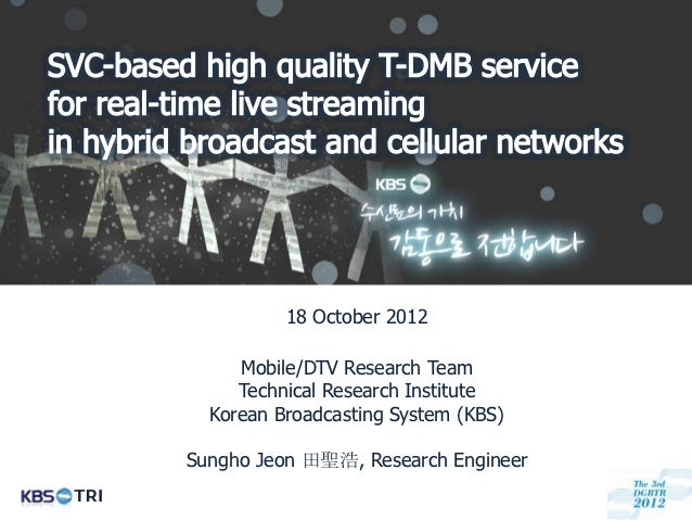 18 October 2012           Mobile/DTV Research Team           Technical Research Institute        Korean Broadcasting Syste...