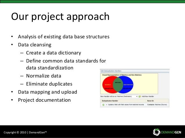 Data analysis and cleansing
