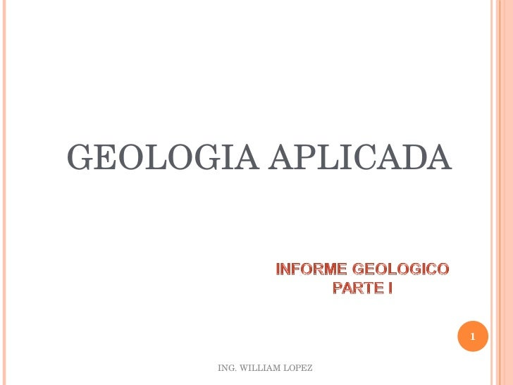 <ul><li>GEOLOGIA APLICADA </li></ul>