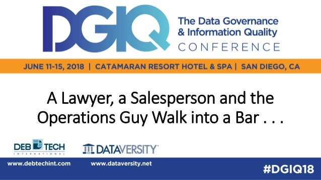 A Lawyer, a Salesperson and the Operations Guy Walk into a Bar . . .