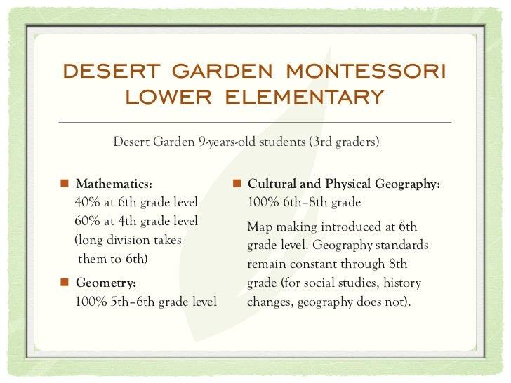 Education In Crisis Solutions From Desert Garden Montessori