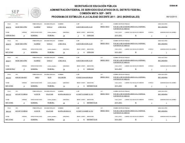 DGNAM  SECRETARÍA DE EDUCACIÓN PÚBLICA ADMINISTRACIÓN FEDERAL DE SERVICIOS EDUCATIVOS EN EL DISTRITO FEDERAL COMISIÓN MIXT...