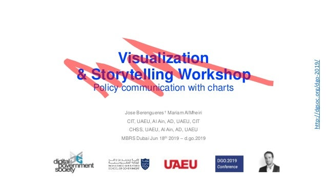 Visualization & Storytelling Workshop Policy communication with charts Jose Berengueres † Mariam AlMheiri CIT, UAEU, Al Ai...