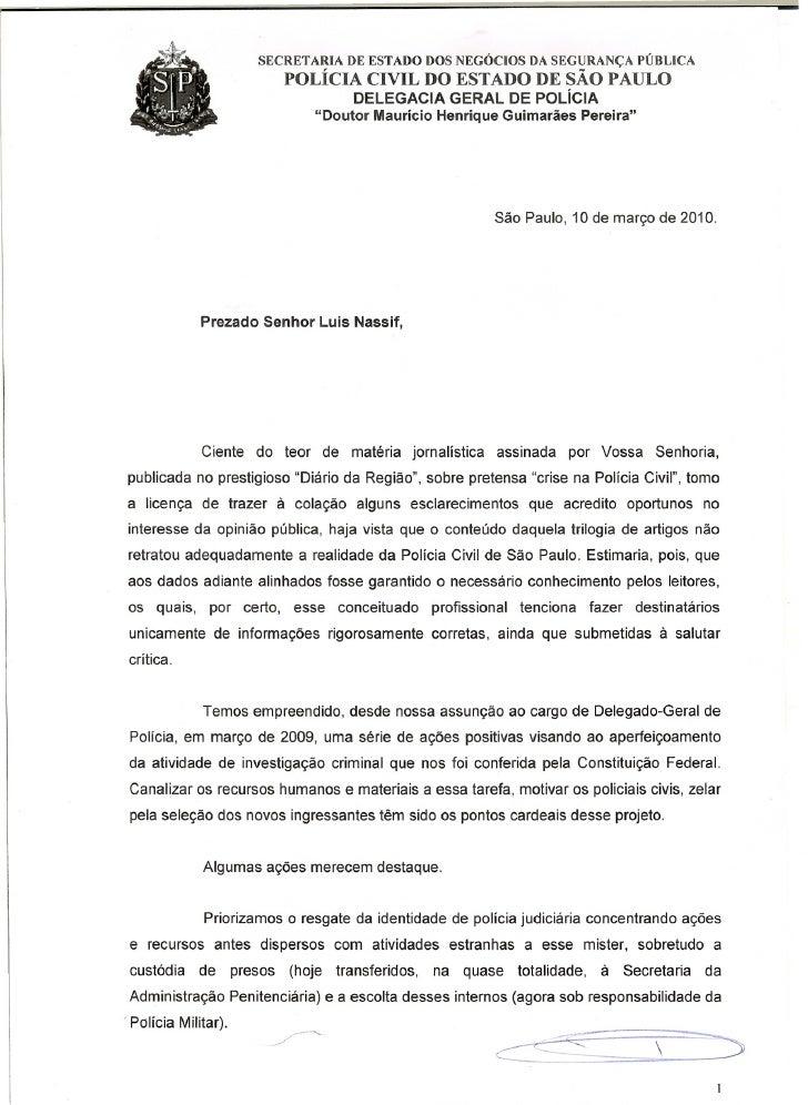SECRETARIA DE ESTADO DOS NEGÓCIOS DA SEGURANÇA PÚBLICA                        POLÍCIA CIVIL DO ESTADO DE SÃO PAULO        ...