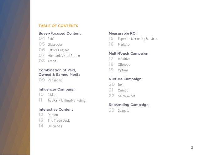 2015 Killer Content Awards Report Slide 2