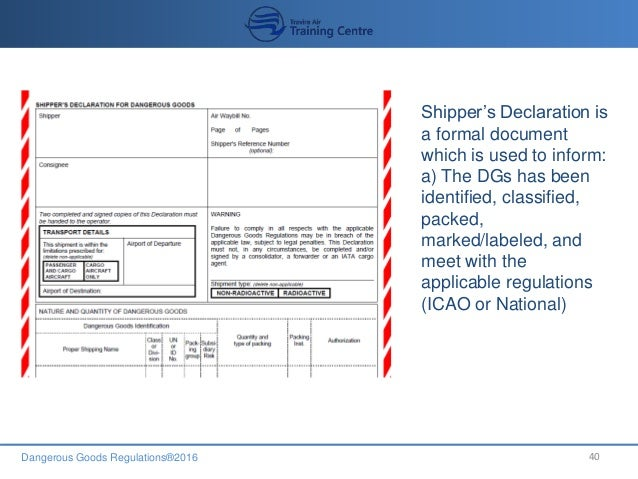 Dgr for crewmember 2016 recurrent inspection checklist 40 dangerous goods regulations2016 40 shippers declaration thecheapjerseys Choice Image