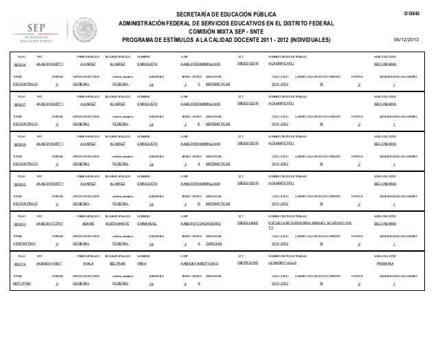 DGSEI  SECRETARÍA DE EDUCACIÓN PÚBLICA ADMINISTRACIÓN FEDERAL DE SERVICIOS EDUCATIVOS EN EL DISTRITO FEDERAL COMISIÓN MIXT...