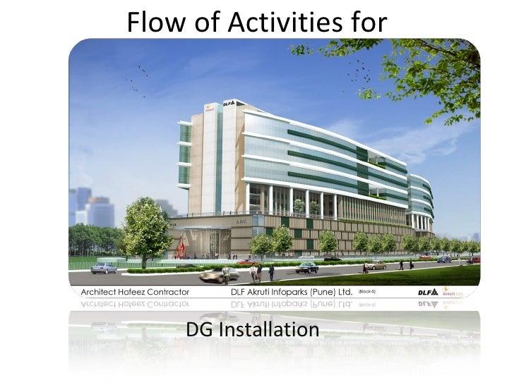 Flow of Activities for DG Installation