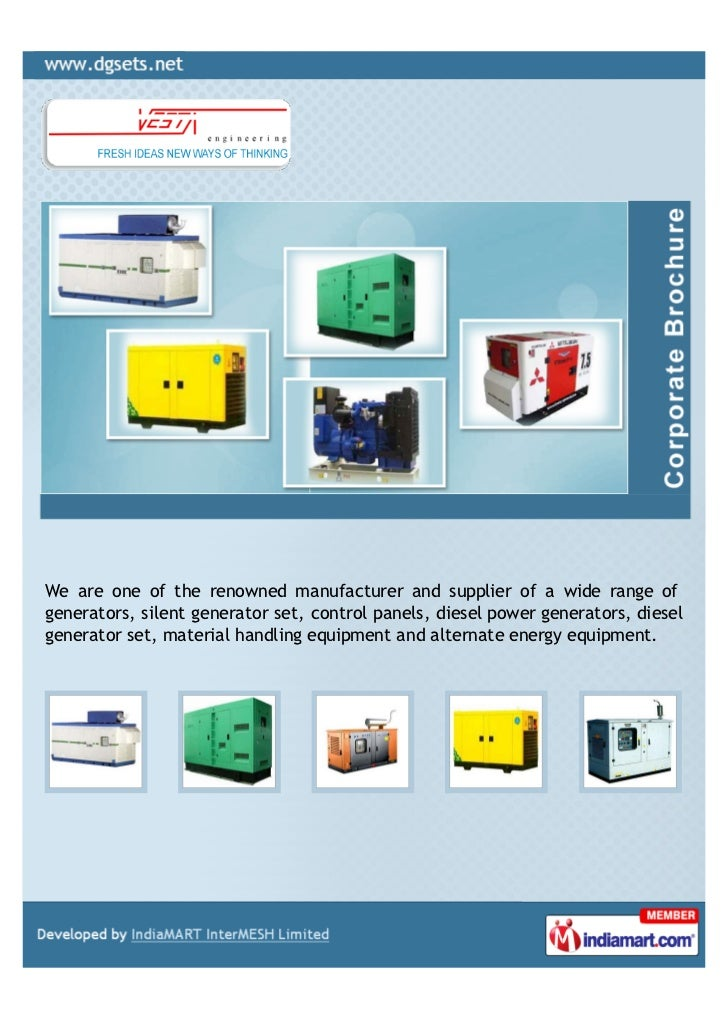 We are one of the renowned manufacturer and supplier of a wide range ofgenerators, silent generator set, control panels, d...
