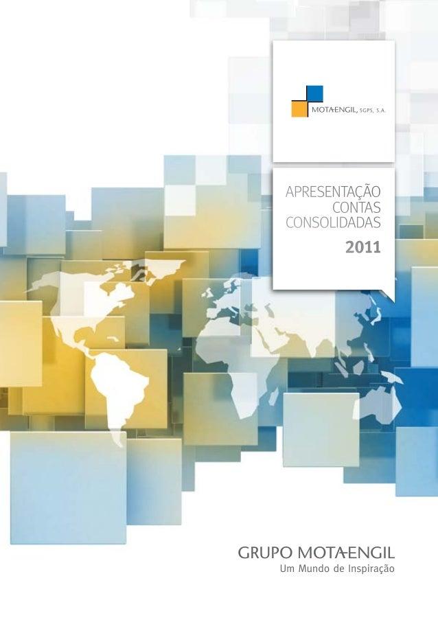 apresentação CONTAS CONSOLIDADAS 2011