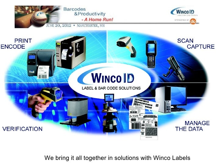 We bring it all together in solutions with Winco Labels