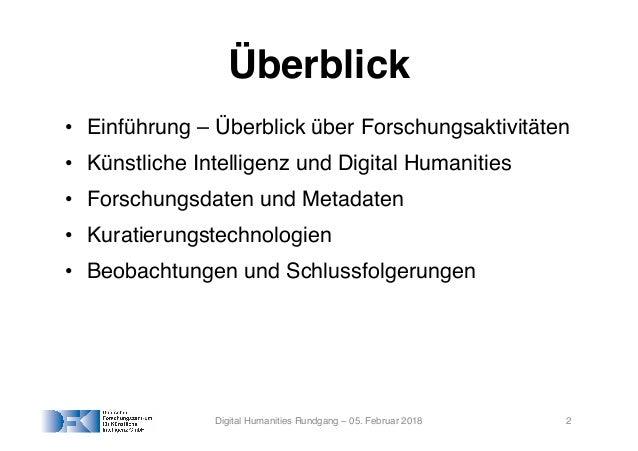 KI, Sprachtechnologie und Digital Humanities: Ein (unvollständiger) Überblick Slide 2