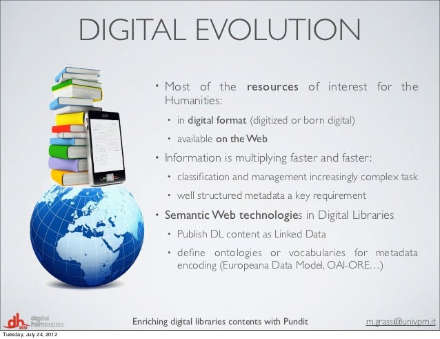 Dh2012 enriching digital libraries contents with pundit system Slide 2
