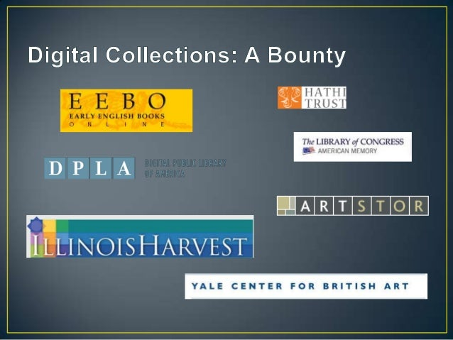 Beyond the Scanned Image: A Needs Assessment of Faculty Users of Digital Collections Slide 2