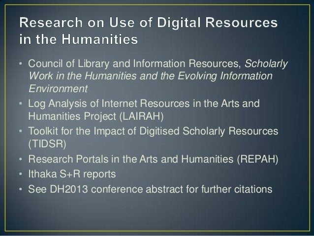 Beyond the Scanned Image: A Needs Assessment of Faculty Users of Digital Collections Slide 3