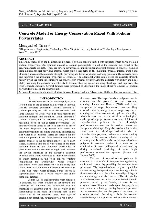 Moayyad Al-Nasra Int. Journal of Engineering Research and Application www.ijera.com Vol. 3, Issue 5, Sep-Oct 2013, pp.601-...