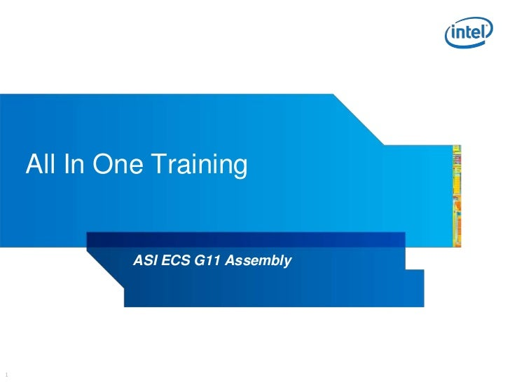 All In One Training             ASI ECS G11 Assembly1