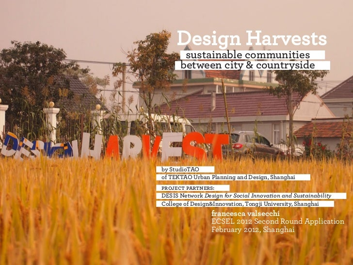 sustainable communities      between city & countrysideby StudioTAOof TEKTAO Urban Planning and Design, Shanghaiproject pa...