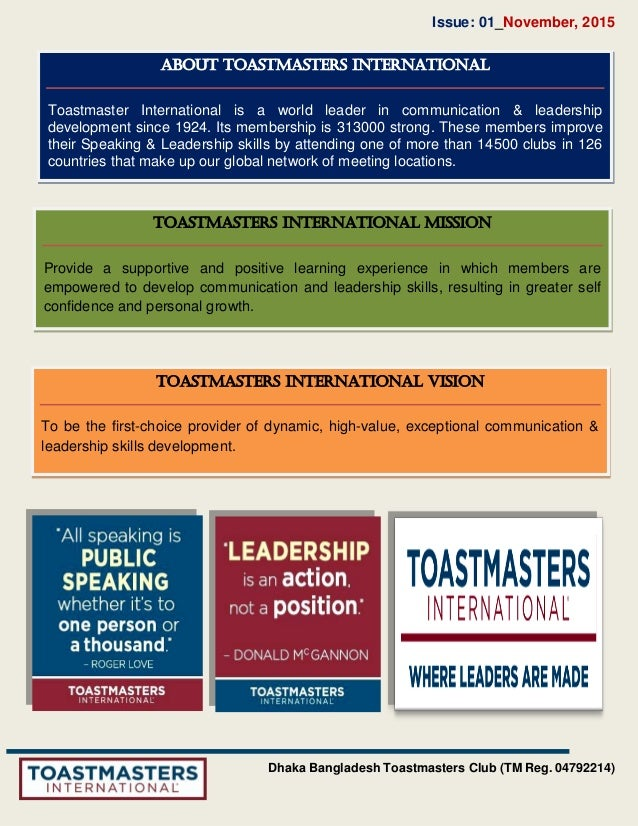 Dhaka Bangladesh Toastmasters Club Newsletter