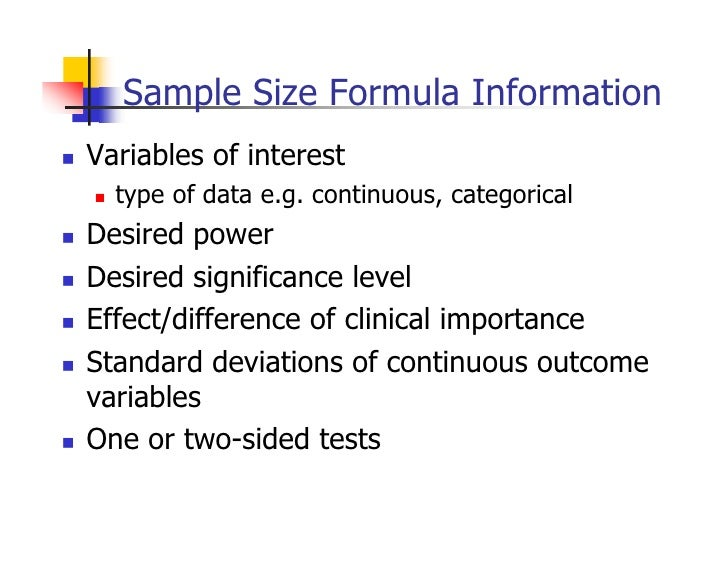 Power Analysis and Sample Size Determination