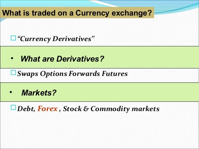 Financial Derivatives and Derivatives Market