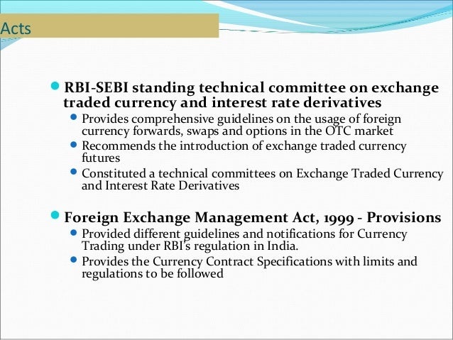 Sebi guidelines for forex trading