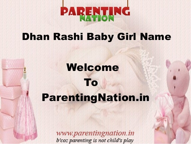 Dhan Rashi Baby Girls Name With Meanings
