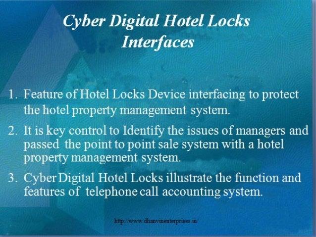 Hotel Door Locks, Cyber Digital Locks, RFID Hotel Locks and Hotel Ware Slide 2