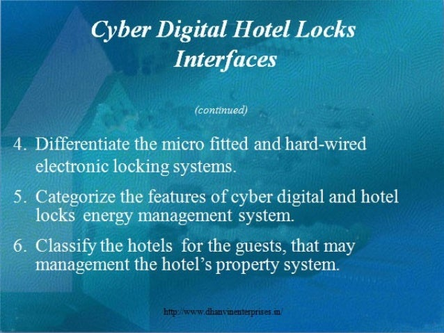 Hotel Door Locks, Cyber Digital Locks, RFID Hotel Locks and Hotel Ware Slide 3