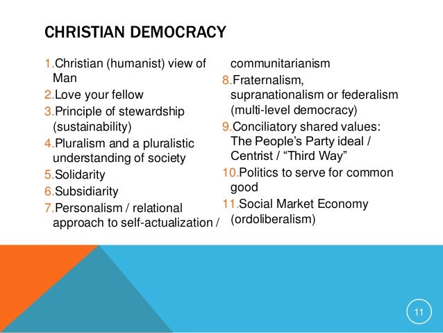 Christian Democracy and Conservatism