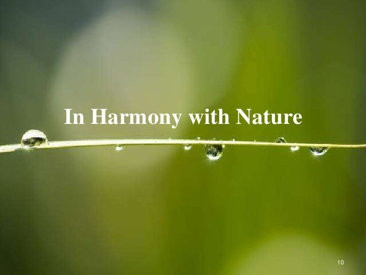 how to live in harmony with nature