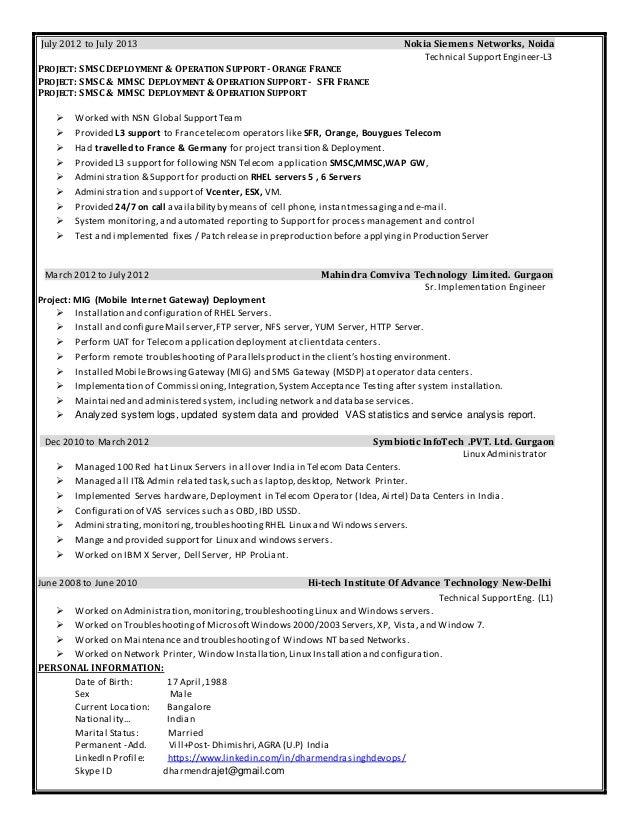 cloud consultant devops engineer resume cv