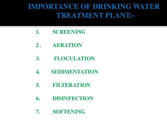 Water Treatment Plant Ppt