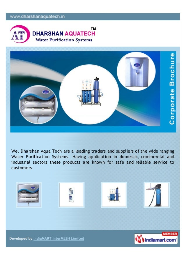 We, Dharshan Aqua Tech are a leading traders and suppliers of the wide rangingWater Purification Systems. Having applicati...