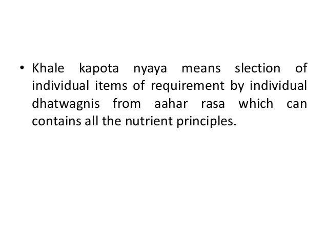EKAKALA DHATU POSHAN SIDDHANTA  This principle was said by Acharya Arundutta, the commentator of Astanga hridaya.  With ...
