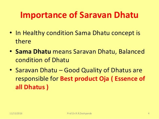 thesis on dhatu sarata