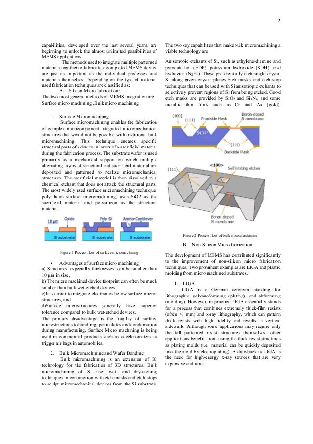 PAPER ON MEMS TECHNOLOGY Slide 2
