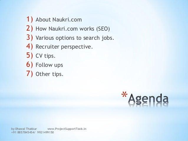 How to search a job on Naukri.com and how does the SEO of Naukri.com works  Slide 2