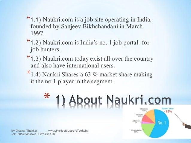 How to search a job on Naukri.com and how does the SEO of Naukri.com works  Slide 3