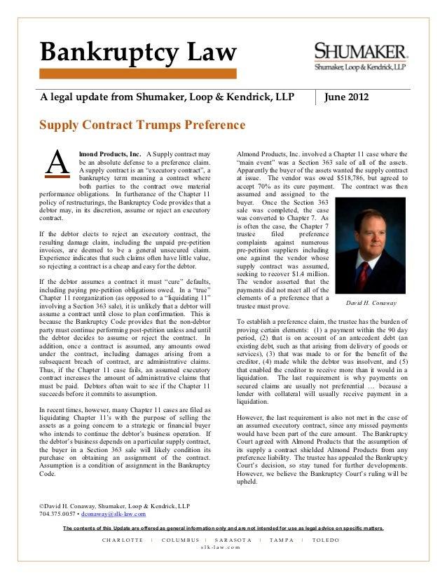 Bankruptcy LawA legal update from Shumaker, Loop & Kendrick, LLP                                                          ...