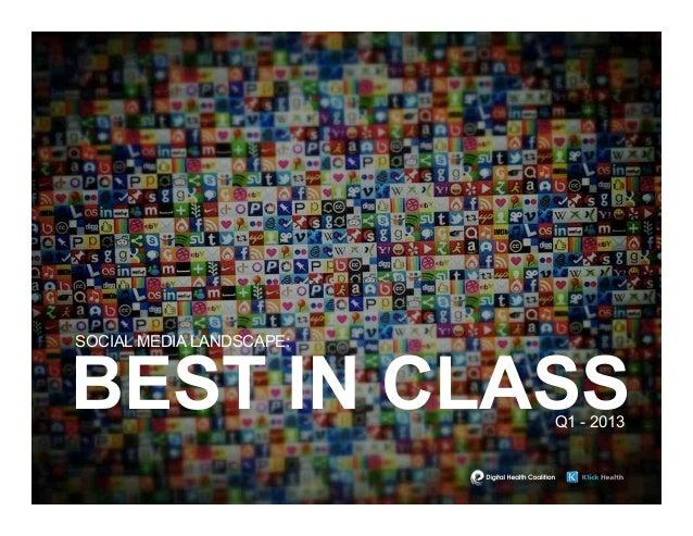 SOCIAL MEDIA LANDSCAPE:BEST IN CLASS             Q1 - 2013