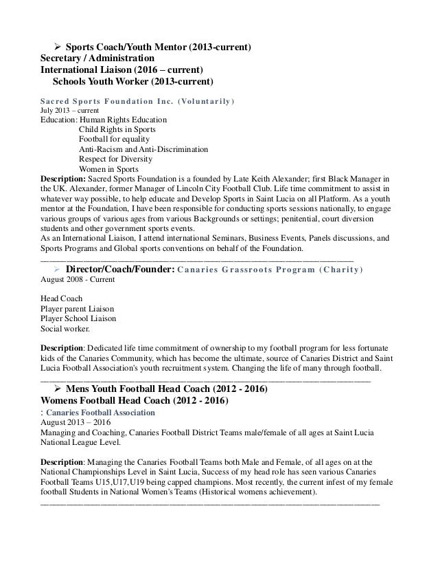 cover letter and cv david henry saint lucia