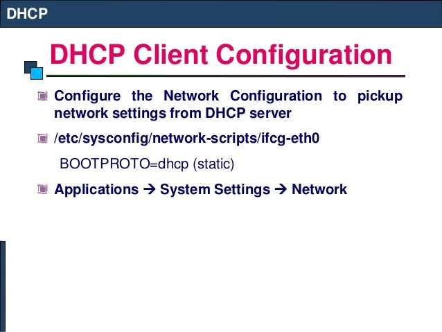 DHCP and NIS