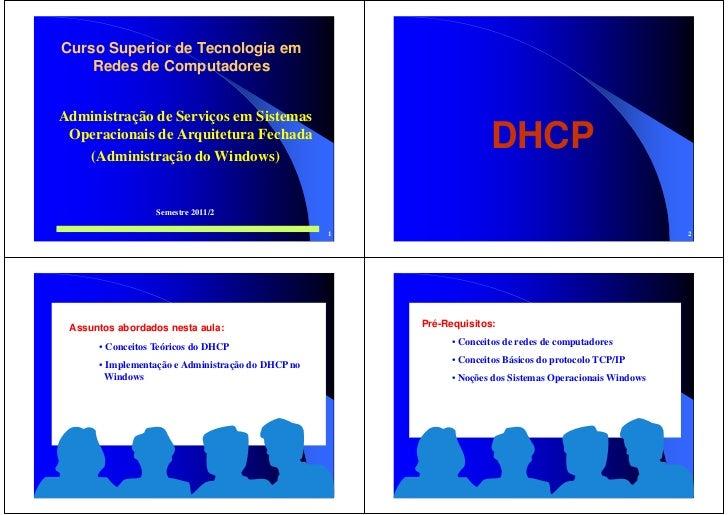 Curso Superior de Tecnologia em    Redes de ComputadoresAdministração de Serviços em Sistemas Operacionais de Arquitetura ...