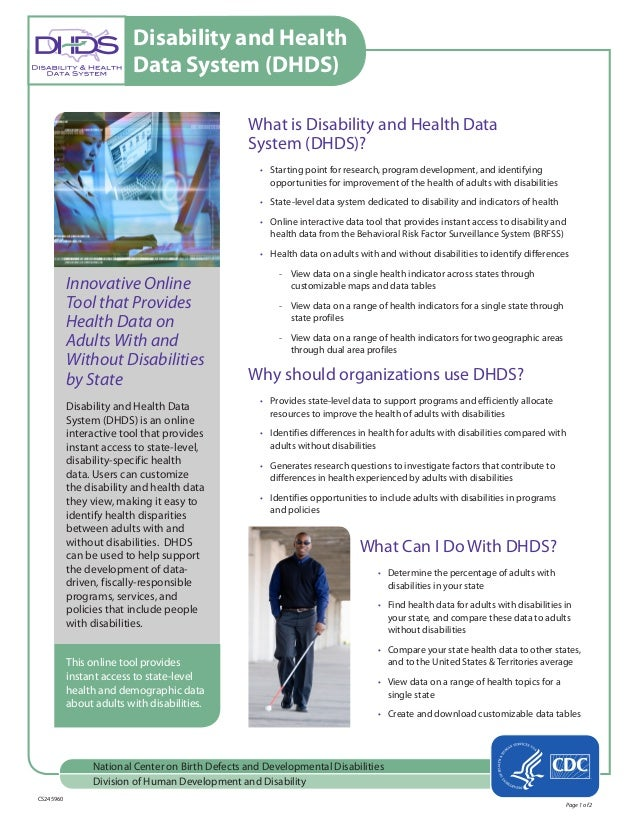 Cdc Says Developmental Disabilities Are >> Dhds Factsheet