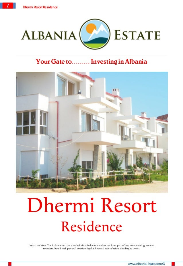 1   Dhermi Resort Residence             Your Gate to……… Investing in Albania      Dhermi Resort                           ...